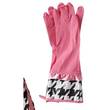 Giant Houndstooth Rubber Gloves