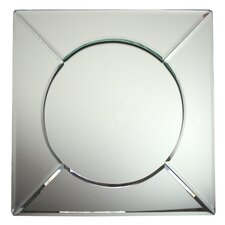 Scalloped Edge Square Mirror Glass Charger Plate (Set of 6)