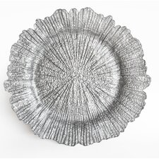 Reef Textured Glass Charger Plate