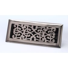 "2.25"" x 12"" Scroll Floor Register in Antique Pewter"
