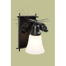 Ponderosa Pine Glacier 1 Light Wall Sconce