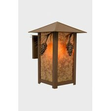 Ponderosa Pine 1 Light Outdoor Ridge Top Wall Lantern