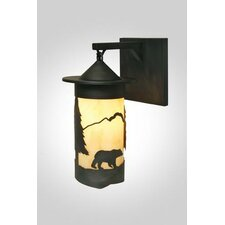 Bear 1 Light Outdoor Hanging Wall Lantern