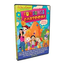 Little Yogis Fun Songs Cartoon DVD with Lyrics Book