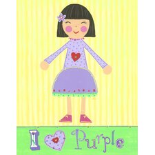 Purple Girl - Violet Wall Art