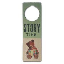 """Story Time"" Wooden Doorknob Sign"