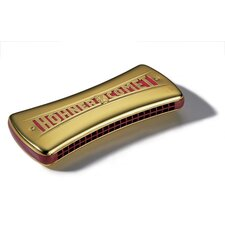 Double-Sided Wender Comet Harmonica in Golden - Key of C / G