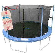 14' Round Trampoline Net Using 6 Poles or 3 Arches