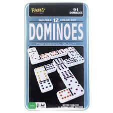 Double 12 Dominoes Game in Tin Case