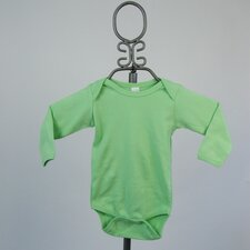 Long Sleeve Infant Bodysuit in Lime Green