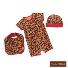 Designer Baby Clothes Gift Set in Leopard Print