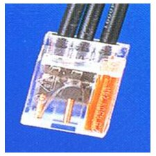 Push-In Wire Connectors in Orange with 3 Pole (Hanging Bag 25 Pack)