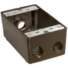 "4.5"" Weatherproof Boxes in Bronze with 0.5"" Outlet Holes"
