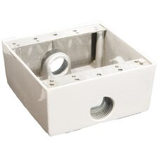 Weatherproof Boxes in White with Outlet Holes