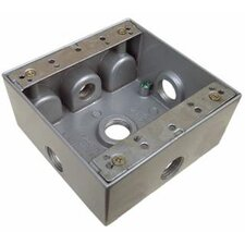 "4.5"" x 4.5"" Weatherproof Boxes in Gray with 5 Outlet Holes"