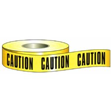 "3"" x 200' Barricade Caution Tape in Yellow"