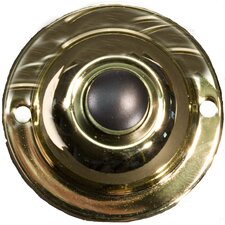 Unlit Round Pushbuttons in Polished Brass