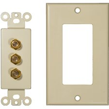 Triple Coax Sound System Plates in Ivory