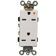 15A-250V Decorator Isolated Ground Duplex Receptacle in White