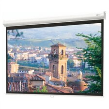 "Matte White Designer Contour Manual Screen with CSR - 57"" x 77"" Video Format"