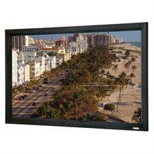 "High Contrast Perforated Cinema Contour Fixed Frame Screen - 36"" x 48"" Video Format"