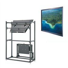 "Da-Plex Thru-the-Wall Rear Projection Screen - 40 1/4"" x 53 3/4"" Video Format"