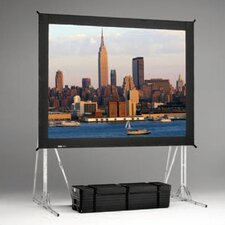 Dual Vision Truss Fast Fold Complete Front and Rear Projection Screen - 12' x 12'