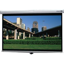 "Deluxe Model B HC Matte White Projection Screen - 43"" x 57"" Video Format"