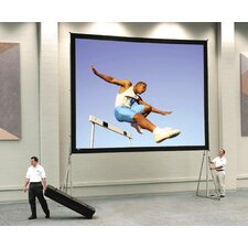 Dual Vision Heavy Duty Deluxe Fast Fold Complete Front and Rear Projection Screen - 9' x 12'