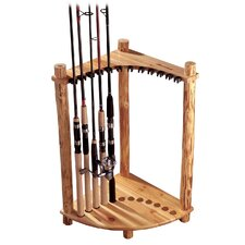Corner Log 12 Fishing Rod Rack
