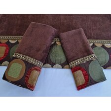 Metro Brown 3-Piece Decorative Towel Set