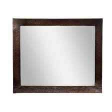 Hammered Copper Framed Rectangular Mirror