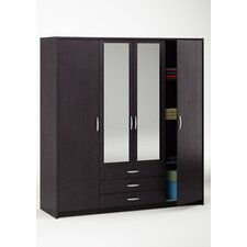 Omega 4 Doors 3 Drawers Wardrobe