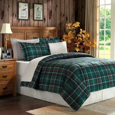 Plaid Microfiber 2 Piece Comforter Set