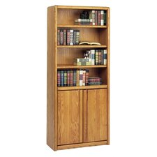"Contemporary 70"" H Bookcase with Lower Doors"