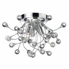 Crystal Buds 3 Light Semi Flush Mount