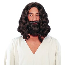 Biblical Wig and Beard in Brown