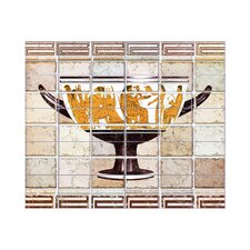 Antique Vase 2 Kitchen Tile Mural in Multi-Colored