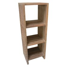 Stripes Teak Shelf