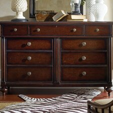 The Classic Portfolio British Colonial 9 Drawer Dresser