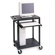 Workstation with One  Adjustable Pull-Out Shelf