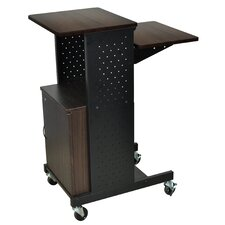 Mobile Presentation Station with Cabinet
