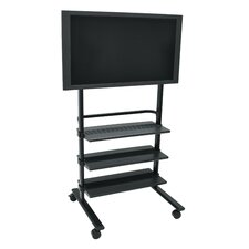 "31.5"" LCD TV Stand with Shelves"