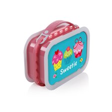 Deluxe Lunchbox with Cupcakes Design in Pink