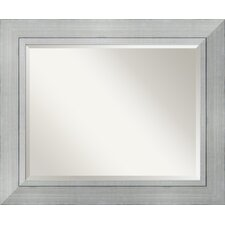Romano Large Mirror in Burnished Silver