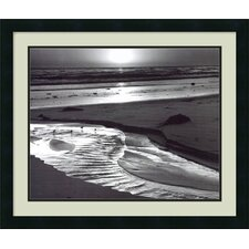 "Birds on a Beach, Evening, 1966 by Ansel Adams, Framed Print Art - 22.19"" x 26.19"""