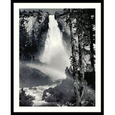 "Nevada Fall, Rainbow, Yosemite National Park by Ansel Adams, Framed Print Art - 31.04"" x 25.04"""
