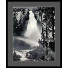 "Nevada Fall, Rainbow, Yosemite National Park by Ansel Adams, Framed Print Art - 33.04"" x 27.04"""