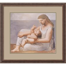 "Mother and Child, 1921 by Pablo Picasso, Framed Print Art - 24.3"" x 26.3"""