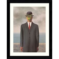 "Le Fils de l'Homme (Son of Man), 1964 by Rene Magritte, Framed Print Art - 30.62"" x 24.62"""